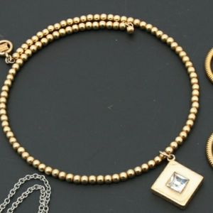 Vintage Givenchy Beaded Gold Choker